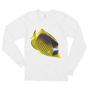 Butterfly-Fish Print Long sleeve t-shirt (unisex)