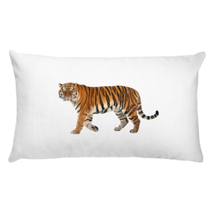 Siberian-Tiger Print Rectangular Pillow