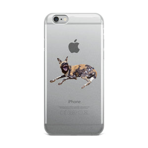 African-Wild-Dog Print iPhone Case