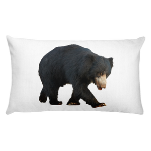 Sloth-Bear Print Rectangular Pillow