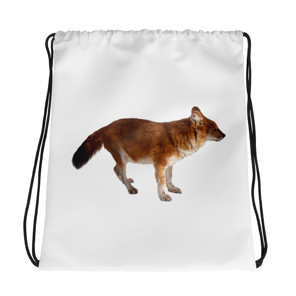 Dhole Print Drawstring bag