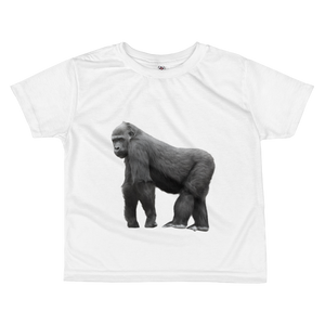 Gorilla print All-over kids sublimation T-shirt