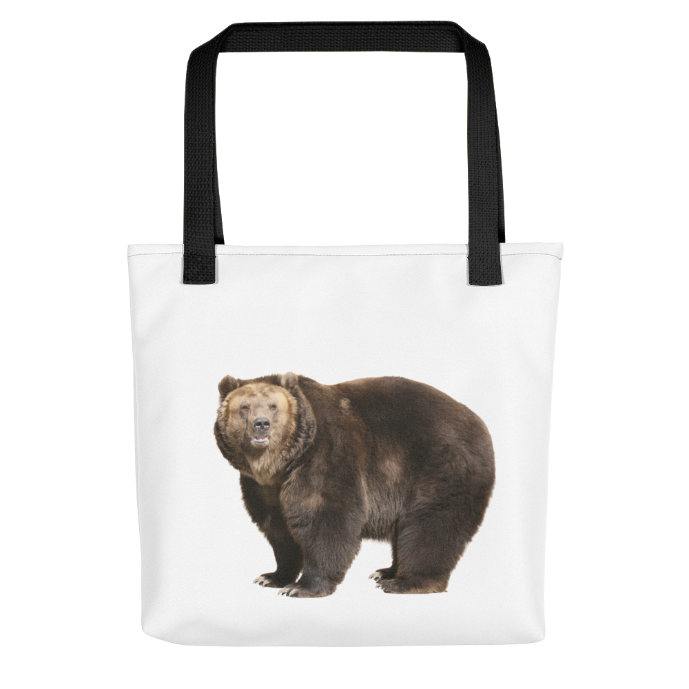 Brown-Bear Print Tote bag