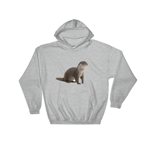 European Otter Print Hooded Sweatshirt