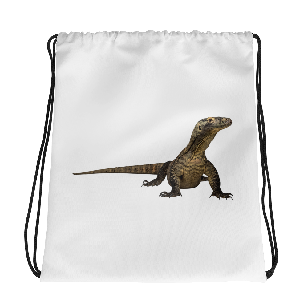 Komodo-Dragon Print Drawstring bag