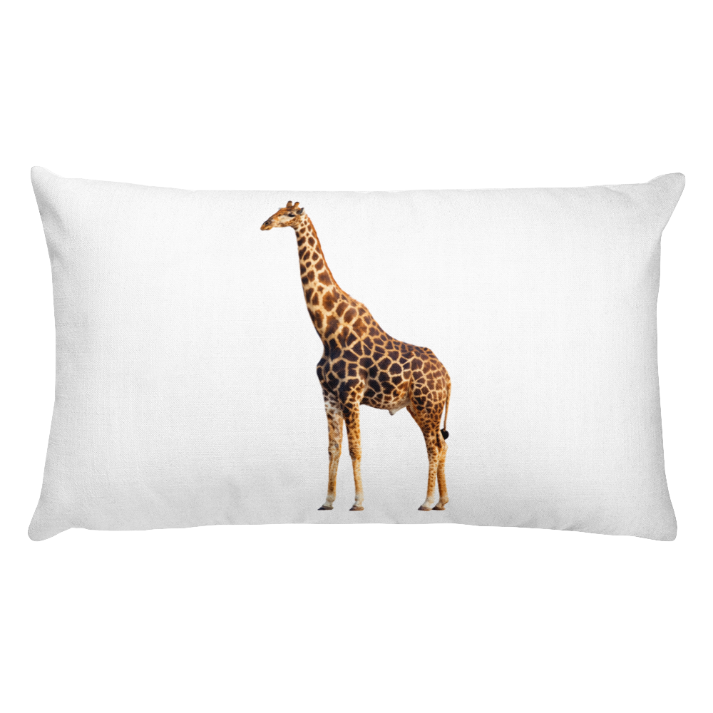 Giraffe Print Rectangular Pillow
