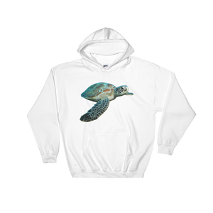 Sea-Turtle Print Hooded Sweatshirt