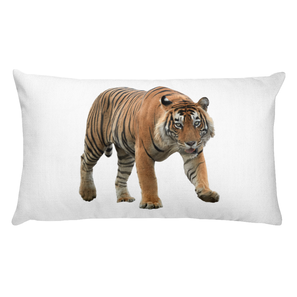 Bengal-Tiger Print Rectangular Pillow