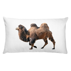 Bactrian-Camel Print Rectangular Pillow
