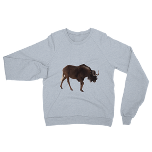 Wilderbeast print Unisex California Fleece Raglan Sweatshirt