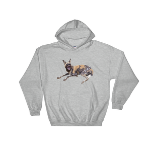 African-Wild-Dog Print Hooded Sweatshirt