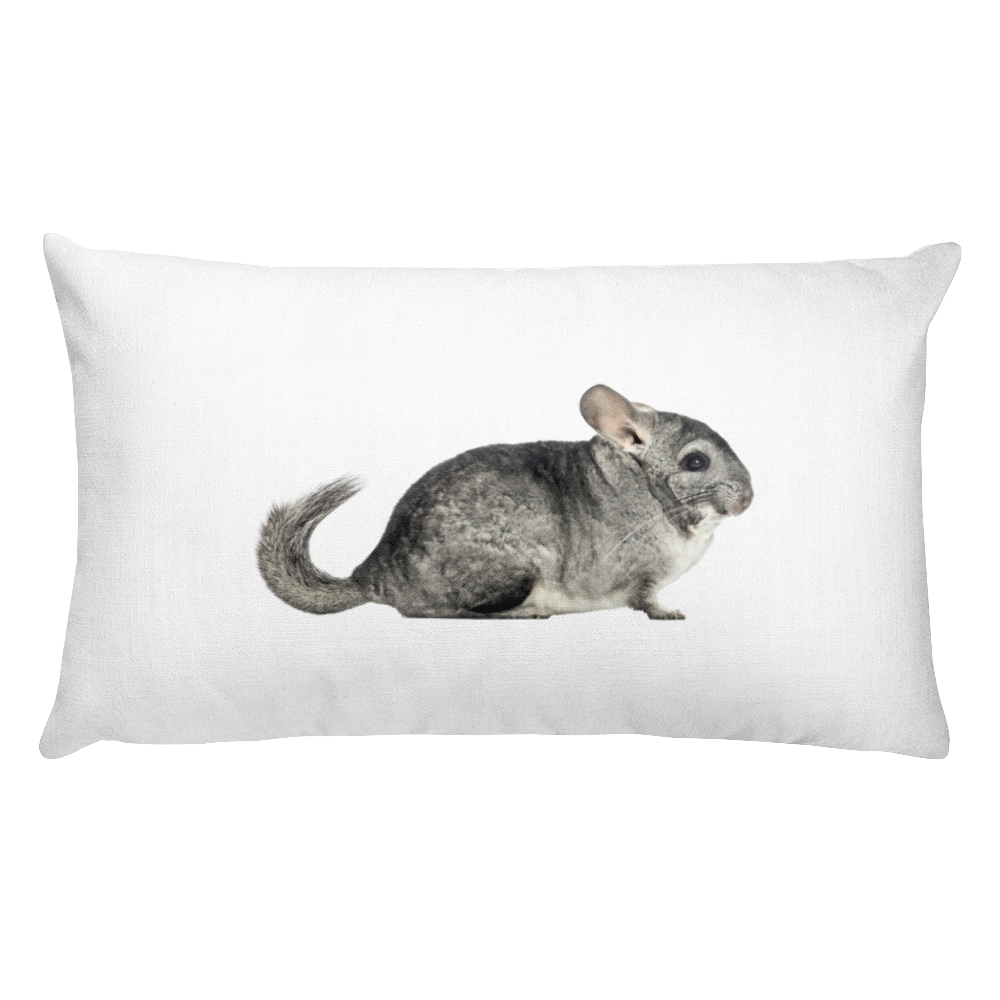 Chinchilla Print Rectangular Pillow