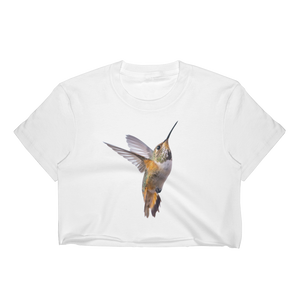 Hummingbird Print Women's Crop Top