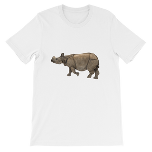 Indian-Rhinoceros Short-Sleeve Unisex T-Shirt