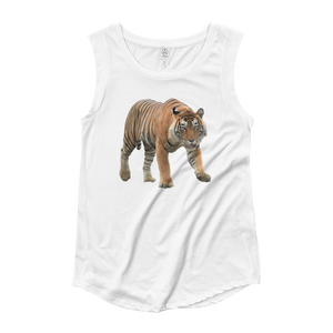 Bengal-Tiger Ladies‰۪ Cap Sleeve T-Shirt