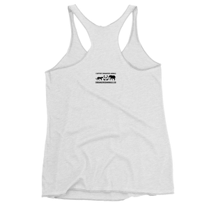 Indian-Rhinoceros Print Women's Racerback Tank