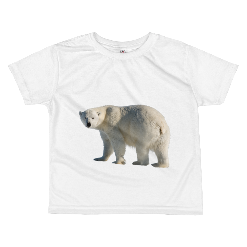 Polar-Bear Print All-over kids sublimation T-shirt