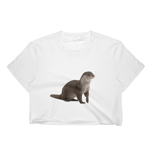 European-Otter Print Women's Crop Top
