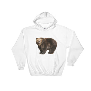 Brown-Bear Print Hooded Sweatshirt