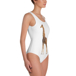 Giraffe Print One-Piece Swimsuit