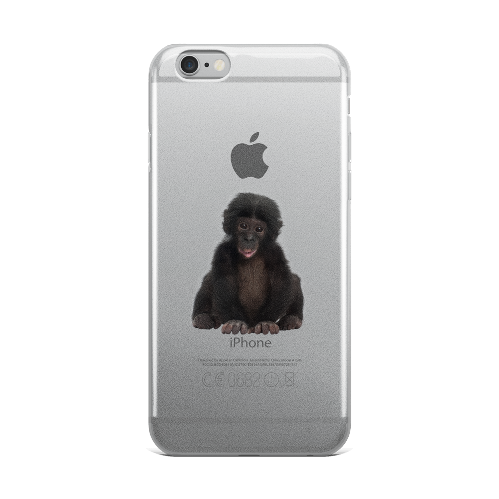Bonobo Print iPhone Case