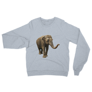 Indian-Elephant print Unisex California Fleece Raglan Sweatshirt