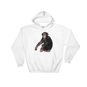 Chimpanzee Print Hooded Sweatshirt