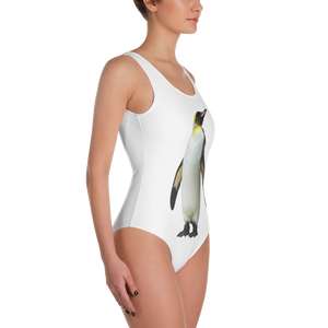 Emperor-Penguin Print One-Piece Swimsuit