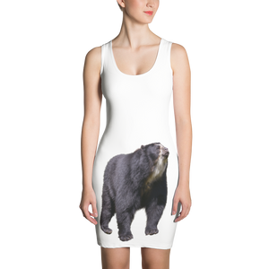 Specticaled-Bear Print Sublimation Cut & Sew Dress