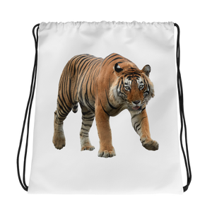Bengal-Tiger Print Drawstring bag