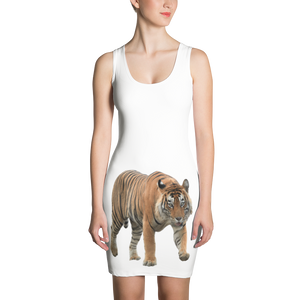 Bengal-Tiger Print Sublimation Cut & Sew Dress