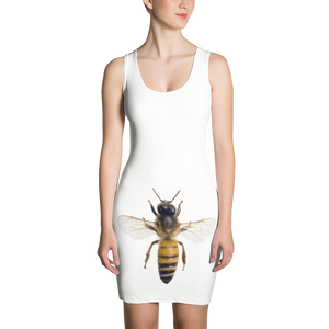 Honey-Bee Print Sublimation Cut & Sew Dress