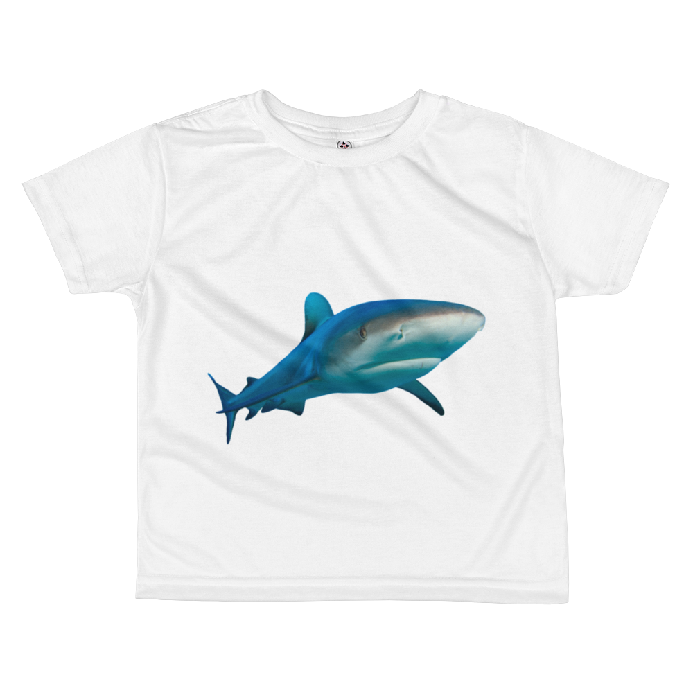 Great-White-Shark print All-over kids sublimation T-shirt