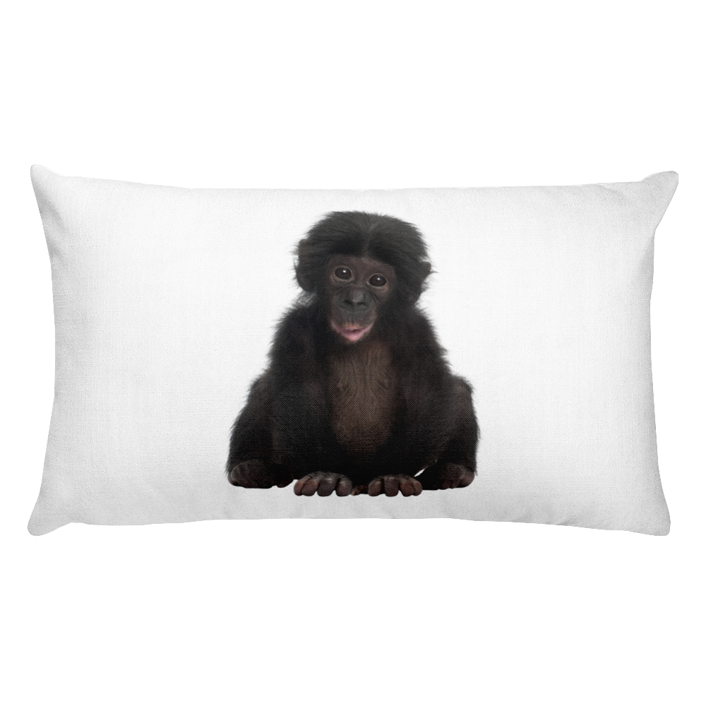 Bonobo Print Rectangular Pillow