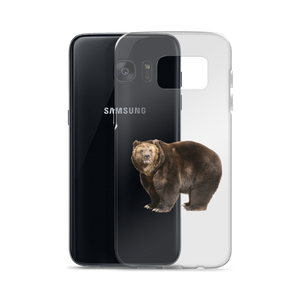 Brown-Bear Print Samsung Case