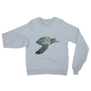 Sea-Turtle print Unisex California Fleece Raglan Sweatshirt