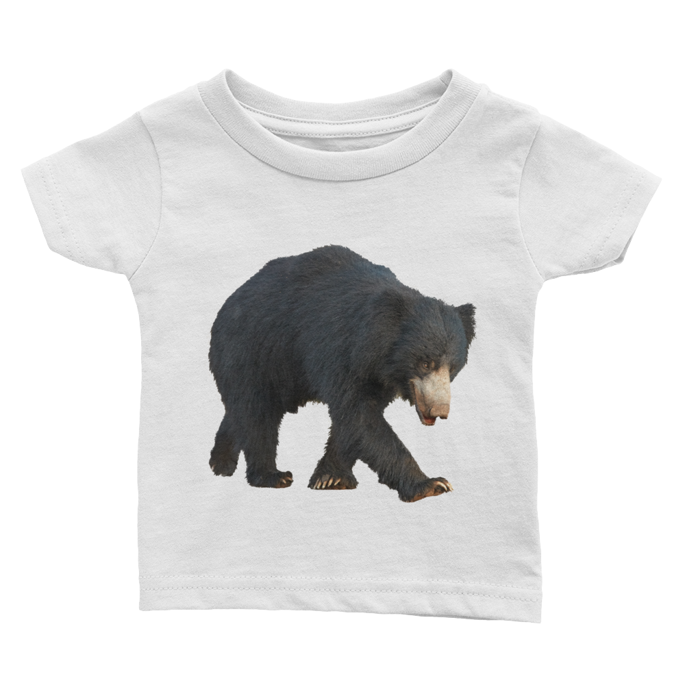 Sloth-Bear Print Infant Tee