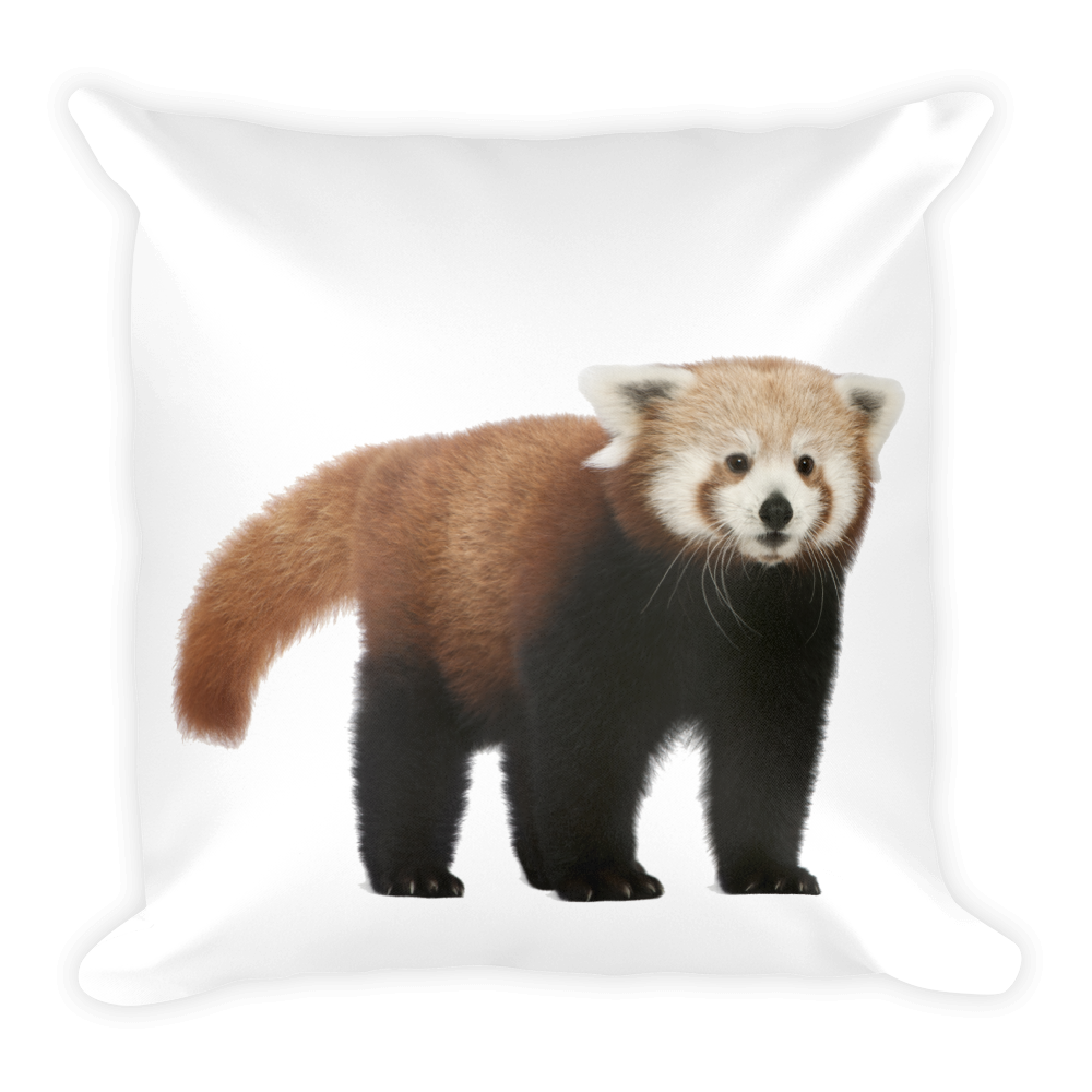 Red-Panda- Print Square Pillow