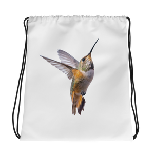 Hummingbird Print Drawstring bag