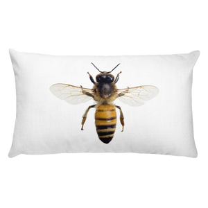 Honey-Bee Print Rectangular Pillow