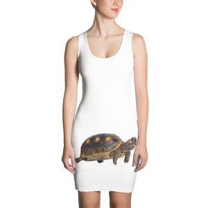 Tortoise Print Sublimation Cut & Sew Dress