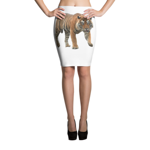 Bengal-Tiger print Pencil Skirt