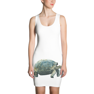Galapagos-Giant-Turtle Print Sublimation Cut & Sew Dress