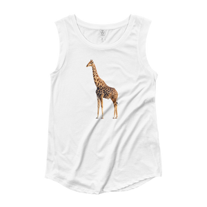 Giraffe Ladies‰۪ Cap Sleeve T-Shirt