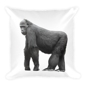 Gorilla Print Square Pillow