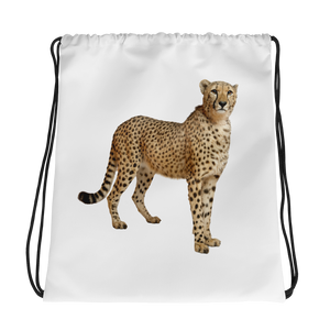 Cheetah Print Drawstring bag