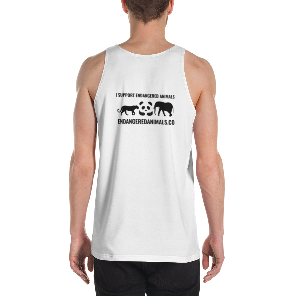 Great White Shark Print Unisex Tank Top