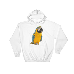 Macaw print Hooded Sweatshirt