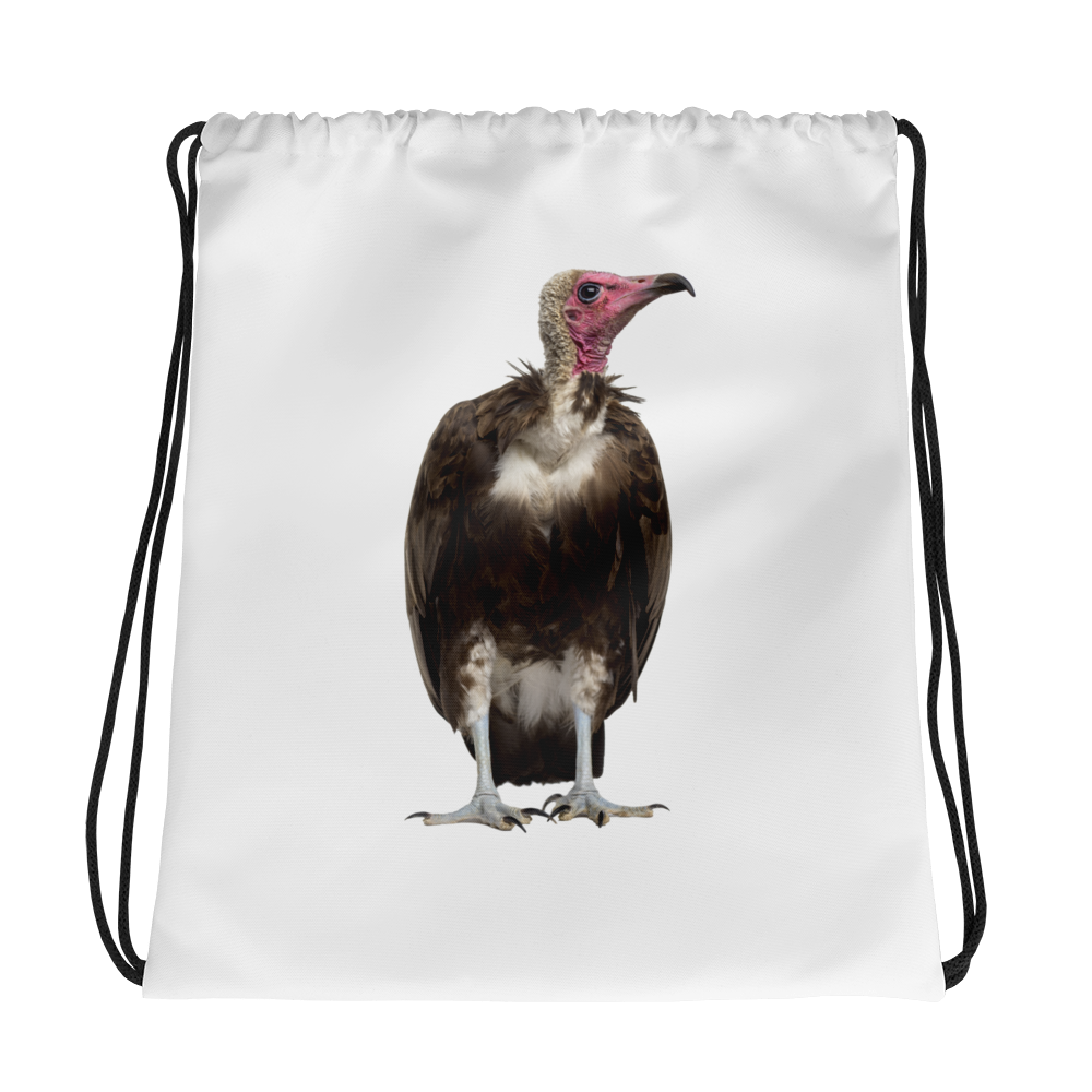 Vulture Print Drawstring bag