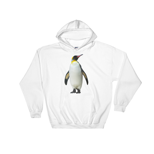Emperor-Penguin Print Hooded Sweatshirt